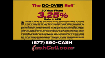Cash Call Do-Over Refi TV Spot, '30-Year Fixed: 3.25%'