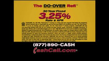Cash Call Do-Over Refi TV Spot, \'30-Year Fixed: 3.25%\'