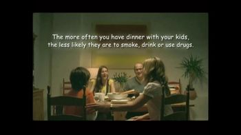CASA Family Day TV Spot, 'Dinner Makes a Difference'