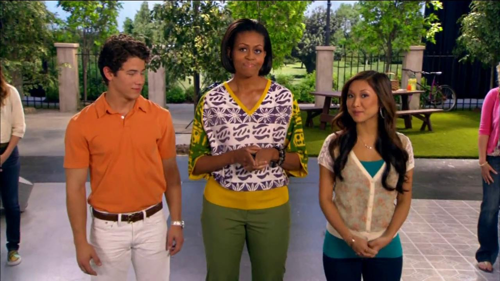 Let's Move TV Commercial Feat  Nick Jonas and Michelle Obama - Video