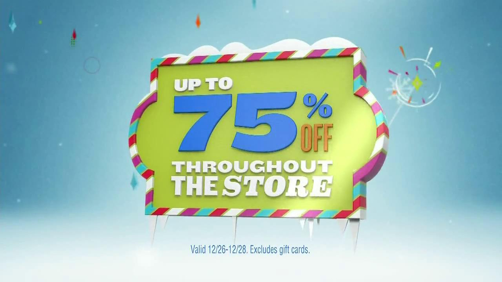 Old Navy TV Commercial, 'After Holidays 75% Off'
