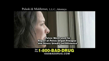 Pulaski & Middleman, L.L.C, Attorneys TV Spot, 'Pelvic Mesh Warning'