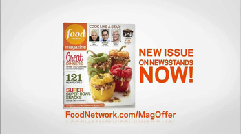 Food Network Magazine January/February 2013 TV Spot