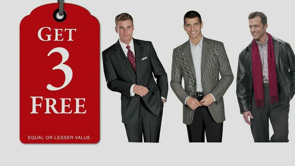 JoS. A. Bank TV Commercial, 'Buy 1, Get 3 Free: Dec. 2012'