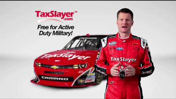 TaxSlayer.com TV Spot 'Free for the Military' Feat. Dale Earnhardt Jr - Thumbnail 1