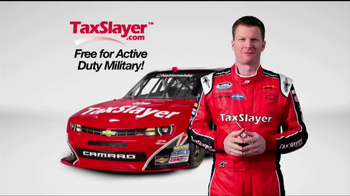 TaxSlayer.com TV Spot 'Free for the Military' Feat. Dale Earnhardt Jr