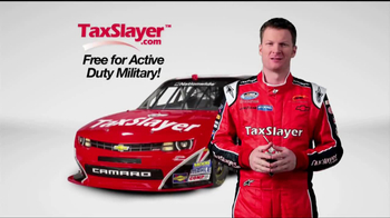 TaxSlayer.com TV Spot 'Free for the Military' Feat. Dale Earnhardt Jr - Thumbnail 4