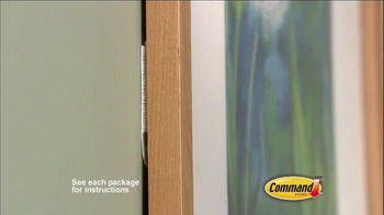 Command Picture Hanging Products TV Spot, 'Beautifully Decorated Walls' - Thumbnail 3