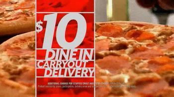 Pizza Hut $10 Any Pizza Deal TV Spot  - Thumbnail 7