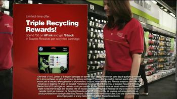 Staples Rewards TV Spot, 'Triple Recycling Rewards'