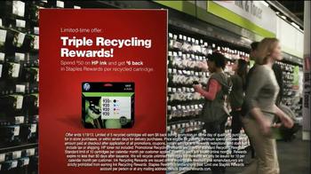 Staples Rewards TV Spot, 'Triple Recycling Rewards' - Thumbnail 7