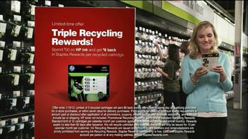 Staples Rewards TV Spot, 'Triple Recycling Rewards' - Thumbnail 9