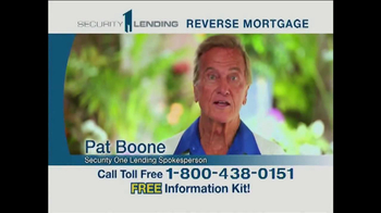 Security 1 Lending TV Spot Featuring Pat Boone - 295 commercial airings