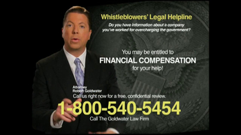 Goldwater Law Firm TV Spot 'Whistleblowers'