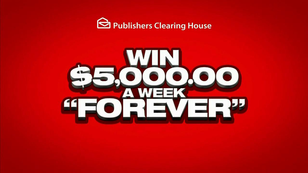 publisher clearing house products publishers clearing house tv commercial 5000 a week 5058