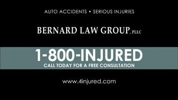Bernard Law Group TV Spot 'Injury' - Thumbnail 6