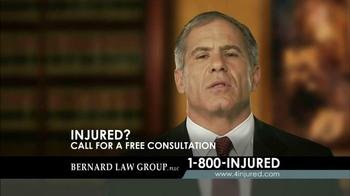 Bernard Law Group TV Spot 'Injury' - Thumbnail 5