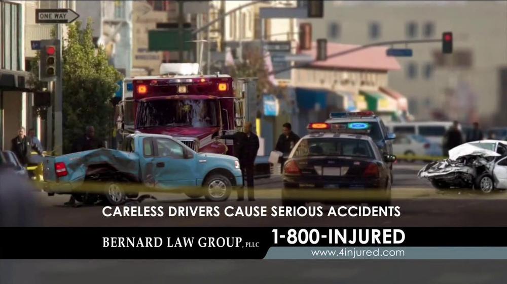 bernard law group tv commercial 39 auto accident 39. Black Bedroom Furniture Sets. Home Design Ideas