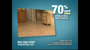Empire Today Warehouse Sale TV Spot, 'Feb. 2013'