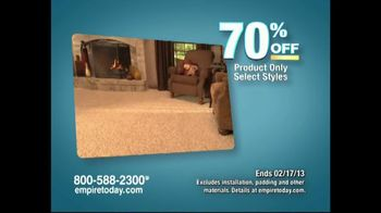 Empire Today Warehouse Sale TV Spot, '70% on Carpet'