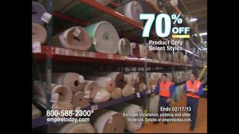 Empire Today Warehouse Sale TV Spot, '70% on Carpet'  - Thumbnail 4