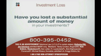 Sokolove Law, LLC TV Spot 'Investment Banking'  - Thumbnail 1