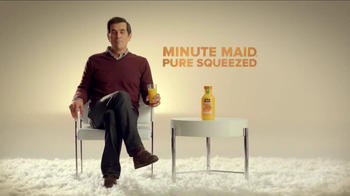 Minute Maid Pure Squeezed TV Spot, 'Cue Cards' Featuring Ty Burrell - Thumbnail 1