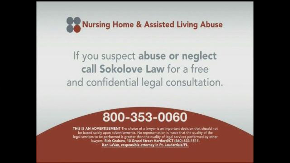 Pulaski Law Firm >> Sokolove Law TV Commercial, 'Nursing Home and Assisted Living Abuse' - iSpot.tv
