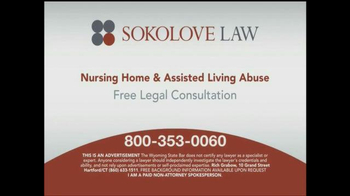 Sokolove Law TV Spot, 'Nursing Home and Assisted Living Abuse' - Thumbnail 9