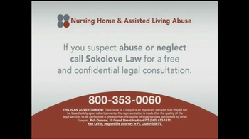 Sokolove Law TV Spot, 'Nursing Home and Assisted Living Abuse' - Thumbnail 3