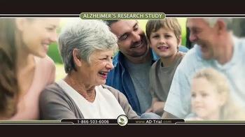 TrialReach TV Spot, 'Alzheimer's Research Study' - Thumbnail 1