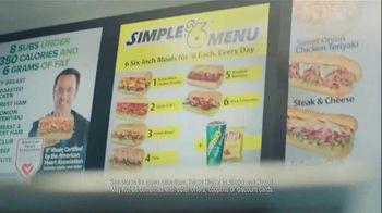 Subway Simple Six Menu TV Spot, 'Start With a Great Sandwich'