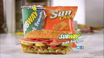 Subway Simple Six Menu TV Spot, 'Start With a Great Sandwich' - Thumbnail 9