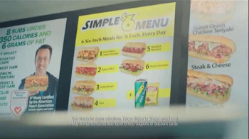 Subway Simple Six Menu TV Spot, 'Start With a Great Sandwich'
