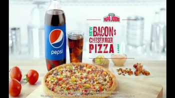 Papa John's Bacon Cheeseburger Pizza TV Spot, 'Are You Kidding Me?' - Thumbnail 6