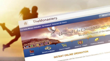 Universal Life Church Monastery Storehouse TV Spot, 'Get Ordained' - Thumbnail 4