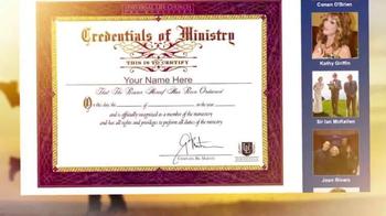 Universal Life Church Monastery Storehouse TV Spot, 'Get Ordained' - Thumbnail 5