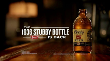 Coors Golden Banquet TV Spot, '1936 Stubby Bottle'