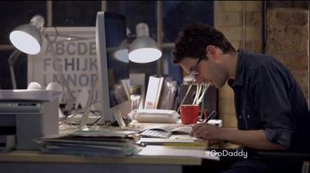 GoDaddy Super Bowl 2015 TV Spot, 'Working' - Thumbnail 3