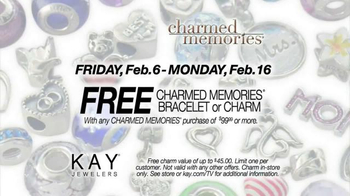 Kay Jewelers Charmed Memories TV Spot, 'Everything You Love: Free Bracelet or Charm' - Thumbnail 6