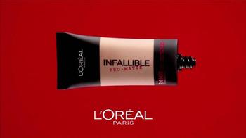 L'Oreal Paris Infallible Pro-Matte TV Spot, 'Cobertura Mate' [Spanish] - Thumbnail 2