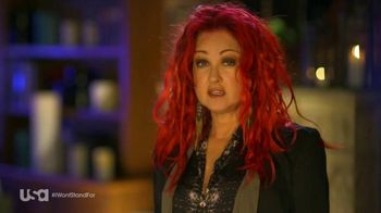 USA Characters Unite TV Spot, 'Cyndi Lauper, True Colors Fund Co-Founder'