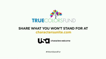USA Characters Unite TV Spot, 'Cyndi Lauper, True Colors Fund Co-Founder' - Thumbnail 9