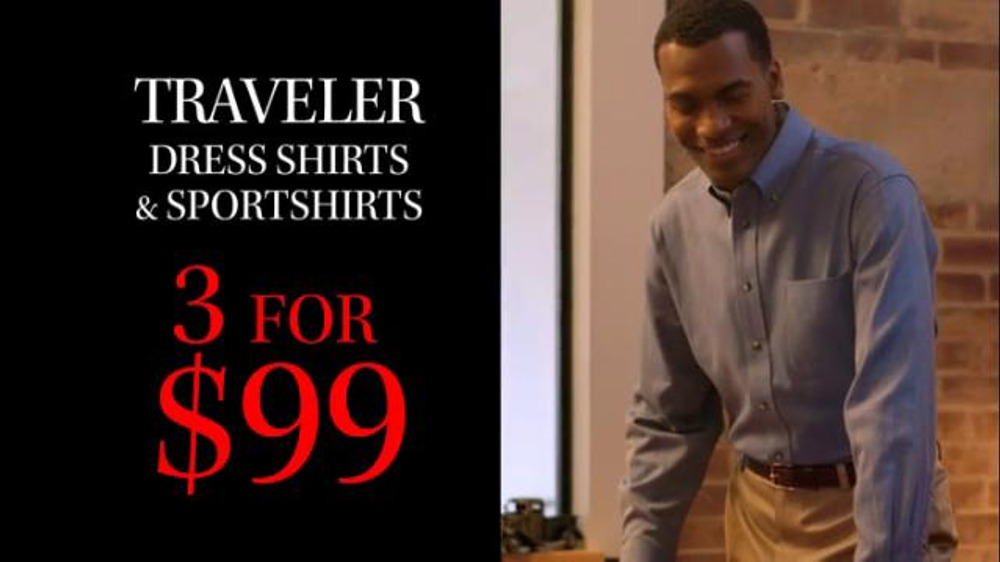 JoS. A. Bank TV Commercial, '3 for $99 Shirts January 27'