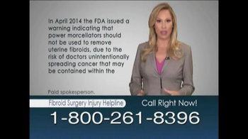 Weitz & Luxenberg TV Spot, 'Fibroid Surgery Injury Helpline'