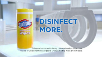 Clorox Disinfecting Wipes TV Spot, 'Disinfect More' - Thumbnail 6