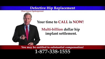 Lee Murphy Law TV Spot, 'Defective Hip Replacement'