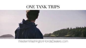 Honda One Tank Trips Sweepstakes TV Spot, 'Western Washington: 2014 Civic' - Thumbnail 1