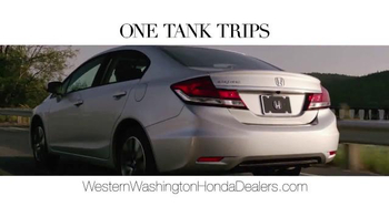 Honda One Tank Trips Sweepstakes TV Spot, 'Western Washington: 2014 Civic' - Thumbnail 3