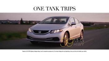 Honda One Tank Trips Sweepstakes TV Spot, 'Western Washington: 2014 Civic' - Thumbnail 4